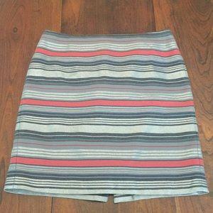 Banana Republic shimmer stripe skirt